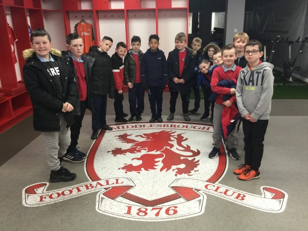 Year 4/5 Writing Club visit to Middlesbrough Riverside Stadium