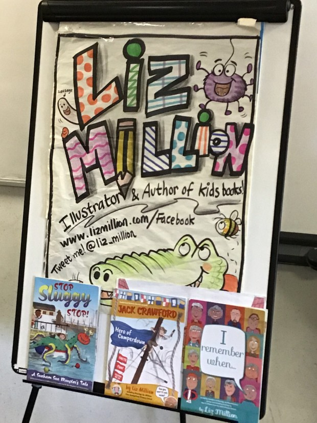 Visit from Liz Million – Illustrator of Children's Books