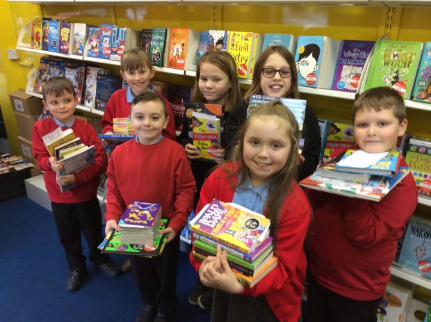 The Book People 'Book Bus' visit